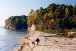 Calvert Cliffs are a favorite place to go for a walk on the beach.