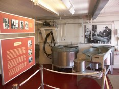 The 1934 J. C. Lore seafood packing house has been restored and is designated a National Historic Landmark. It now houses exhibits that explore all aspects of oyster processing.