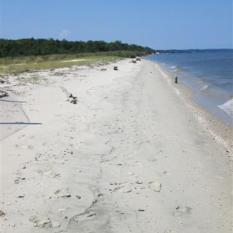 A short, half-mile hike brings you to the park's sandy beach.