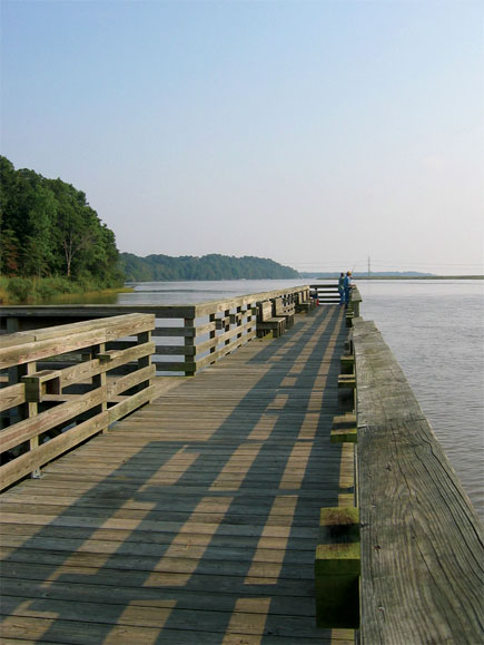 Fishing pier at kings landing park destination southern for Maryland fishing piers