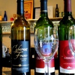 An example of some of the wines available at Port of Leonardtown Winery.
