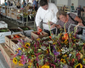 The Amish Auction in Loveville is a popular source of locally grown produce for area restaurants.