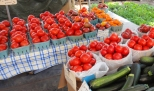 These fresh picked tomatoes are from local Amish farms.
