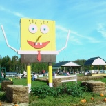 SpongeBob SquarePants is only one of the characters you'll see at Bowles Farms.