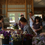 Fresh cut flowers are popular at the Home Grown Farm Market.