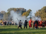 The St. Maries Citty Militia trains for a mock battle at Historic St. Mary's City.