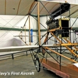 The Navy's first aircraft, the Curtiss A-1, was also the earliest float plane (also known as a hydroaeroplane) is on display at the Patuxent River Naval Air Museum