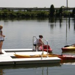 A kayak launch at the Piney Point Lighthouse Museum and Historic Park gets visitors out onto the water for their own adventure.