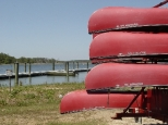 Canoes at Point Lookout State Park