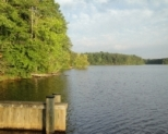 A 7.5 mile trail regularly used for hiking, biking, horseback riding, and fishing circles the lake at St. Mary's River State Park.