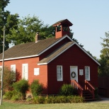 An authentic 19th century one-room school moved to the St. Clement's Island Museum from Charlotte Hall in 1991