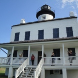 The Blackistone Lighthouse on St. Clement's Island State Park is a replica of the original build in 1851