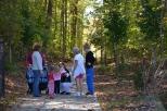 Taking a walk on the Chesapeake Beach Railway Trail can lead to meeting new friends.