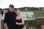 Interpretive panels along the Chesapeake Beach Rail Trail offer an opportunity to learn more about the marsh plants, animals and other features of the adjacent water and marshland.