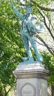 Oliver Hazard Perry statue in Eisenhower Park, Newport RI