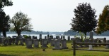 A view of St. Mary's River from the cemetery at Trinity Episcopal Church