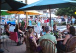 Outdoor dining is popular in Leonardtown, especially during First Fridays and events on the town square.