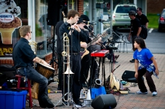 Street musicians, demonstrations, and local artists are part of Leonardtown's First Fridays