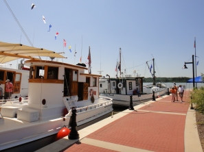 Leonardtown Wharf offers boat tie ups and a soft launch for canoes and kayaks.