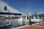 The Leonardtown Wharf is a popular place for boaters visiting Leonardtown to tie up.